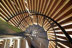 Detalles modernos de la escalera espiral del metal Fotografía de archivo libre de regalías