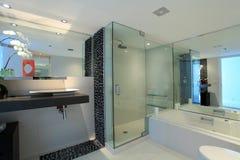 Detalles modernos del cuarto de baño Fotos de archivo