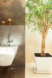 Detalles modernos del cuarto de baño Foto de archivo libre de regalías