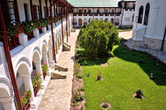 Detalles ortodoxos del monasterio de Agapia Imágenes de archivo libres de regalías