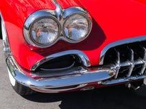 Detalles rojos clásicos de Corbeta Foto de archivo