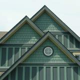 Detalles verdes caseros del apartadero de la casa fotos de archivo