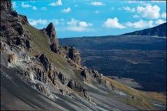 Detalles volcánicos del cráter Foto de archivo libre de regalías