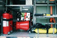 Detalles y estructura del coche de bomberos fotografía de archivo libre de regalías