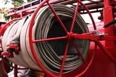Detalles y estructura del coche de bomberos fotos de archivo