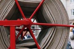Detalles y estructura del coche de bomberos foto de archivo libre de regalías