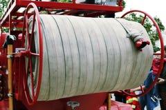 Detalles y estructura del coche de bomberos fotos de archivo libres de regalías