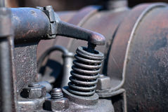 Detasil of ancient machinery Stock Images