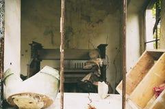 Deteail stary dom w rocznika stylu zdjęcia royalty free