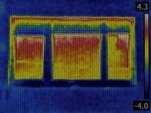 Detecção da perda de calor imagem de stock