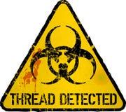 Detecção do vírus de computador, sinal de aviso da linha, ilustração do vetor ilustração do vetor