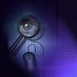 Detección binaria - seguridad Imagen de archivo