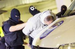 Detección de drogas de las aduanas Foto de archivo libre de regalías