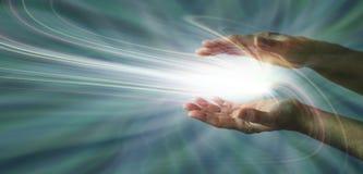 Detectando a energia sobrenatural Fotografia de Stock Royalty Free