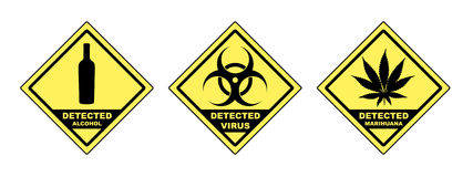 Detected virus Stock Image