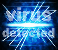 Detected Virus Indicates Found Threat And Discovered. Virus Detected Meaning Detects Find And Antiviral Stock Image