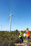 Detecting installation wind turbines Royalty Free Stock Photography
