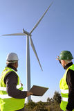 Detecting installation wind turbines Royalty Free Stock Photos