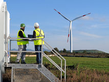 Detecting installation wind turbines Stock Photos