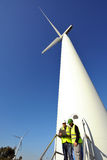Detecting installation wind turbines Royalty Free Stock Image