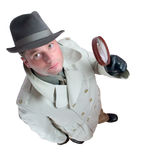 Detective 1. Man with magnifying glass Royalty Free Stock Photos