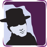 Detective. A male detective with a hat and spectacle royalty free illustration