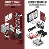 Detective Agency Vertical Banners Royalty Free Stock Images