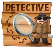 Detective in brown overcoat Stock Photography