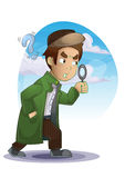 Detective cartoon with separated layers Royalty Free Stock Photos