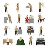 Detective Characters Collection Fotografía de archivo libre de regalías
