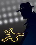 Detective Crime Scene royalty free illustration