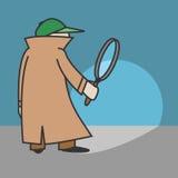Detective de la historieta del vector Fotos de archivo libres de regalías