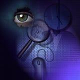 Detective de la tecnología ilustración del vector