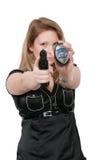 Detective de sexo femenino Foto de archivo libre de regalías