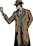 Detective del viejo estilo ilustración del vector
