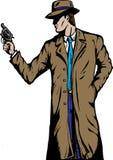 Detective del viejo estilo, por ejemplo a partir de los años '50. Foto de archivo libre de regalías