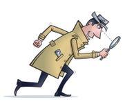 Detective die Aanwijzingen zoeken vector illustratie
