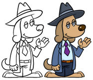 Detective dog Royalty Free Stock Photography