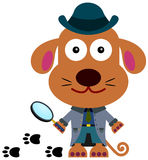 Detective dog Royalty Free Stock Images