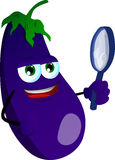 Detective eggplant Royalty Free Stock Images