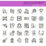 Detective Elements Fotografía de archivo