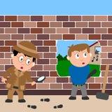 Detective en Inbreker royalty-vrije illustratie