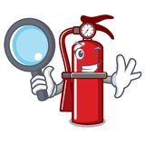 Detective fire extinguisher character cartoon. Vector illustration Stock Images