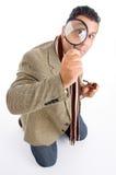 detective glass magnifying Στοκ Εικόνες