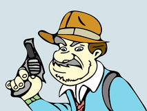 Detective with gun Stock Images