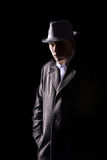 Detective in hat Royalty Free Stock Image