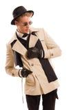 Detective hermoso con una sensatez para la moda Fotografía de archivo libre de regalías