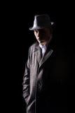 Detective in hoed Royalty-vrije Stock Afbeelding