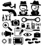 Detective Icons Stock Photos