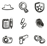 Detective Icons Freehand Fotos de archivo